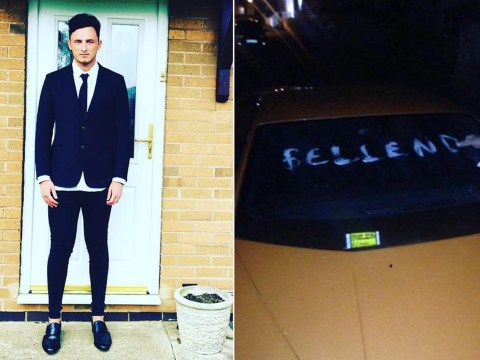 Lamborghini driver's revenge after someone wrote 'bellend' on his car
