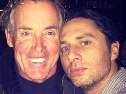 Zach Braff posts throwback Scrubs picture with Perry Cox for Father's Day