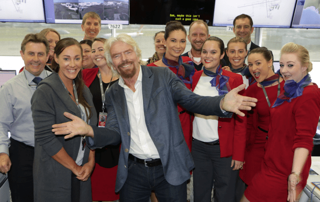 The crew seemed pretty happy to see him (Picture: Virgin Media Australia)