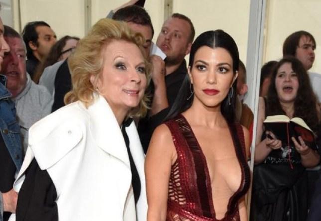 8375b9c31e1c Jennifer Saunders photobombs Kourtney Kardashian at Glamour Women of the  Year Awards