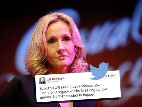 J.K. Rowling says Cameron's legacy will be 'breaking up two unions'