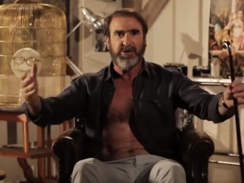'Will Grigg's on fire' as sung by Manchester United legend Eric Cantona, who appears to be a fan of the Northern Ireland striker