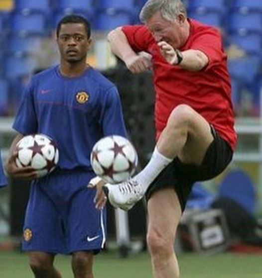 Manchester United legend Patrice Evra mocks Sir Alex Ferguson on Instagram