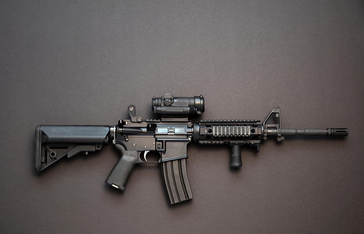 An AR-15 assault rifle, the type used in the Orlando shooting (Picture: Alamy)