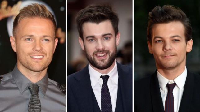 Nicky Byrne, Jack Whitehall and Louis Tomlinson are all rumoured for the Jamie Vardy biopic (Pictures: Getty)
