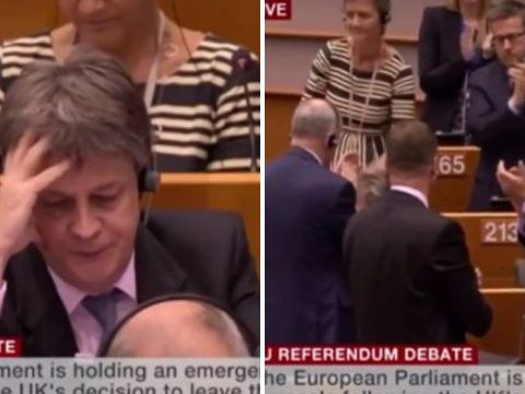 European Commissioner who quit over Brexit breaks down in parliament