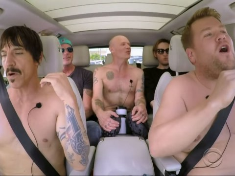 James Corden gets naked with the Red Hot Chilli Peppers for Carpool Karaoke