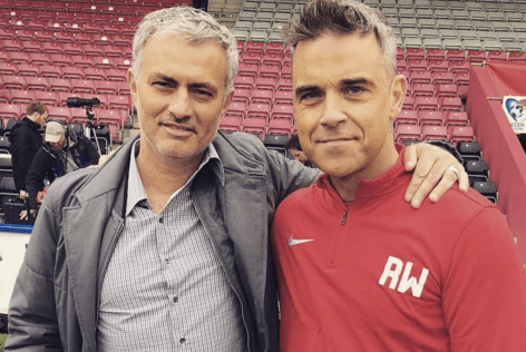 Jose Mourinho will manage Robbie Williams for Soccer Aid (Picture: Instagram)