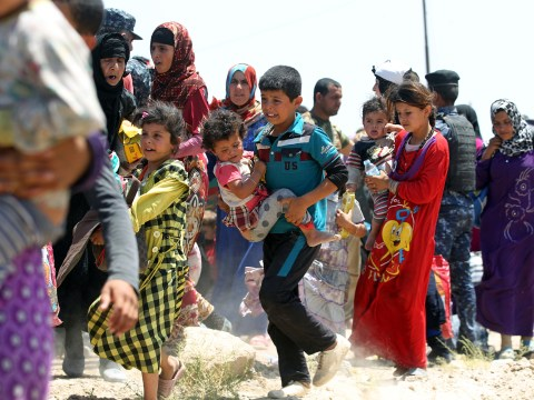 150,000 people are desperately fleeing the besieged city of Fallujah