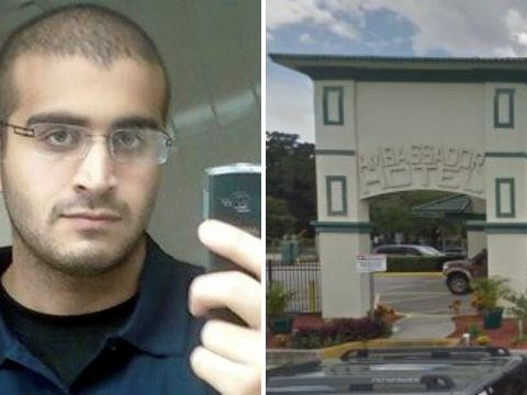 Footage emerges of Orlando gunman 'meeting gay lover in hotel'