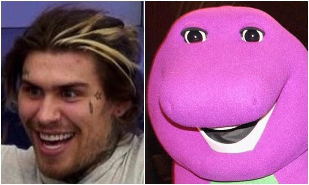 Is it us or does Marco Pierre White Jr look just like Barney the Dinosaur?