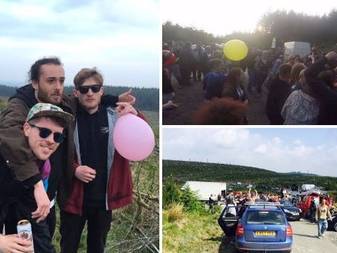 Hundreds turn Welsh countryside in to huge party with illegal rave