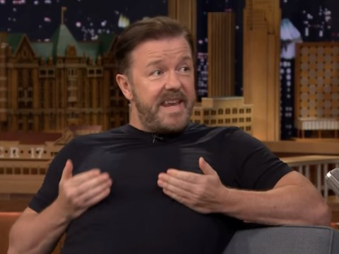 Ricky Gervais tries to break record for most impressions in 30 seconds