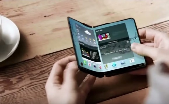 Samsung is releasing a foldable smartphone Credit: Ind Videos/ Youtube
