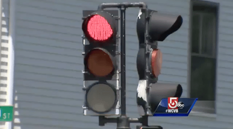 Boy calls 911 after dad Mike Richardson drives through red light