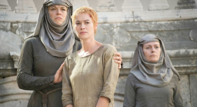 The Shame nun (L) and Cersei (Picture: HBO)