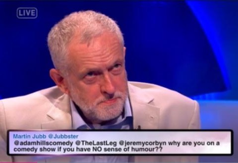 WATCH: Jeremy Corbyn is mocked on The Last Leg for having 'no sense of humour'