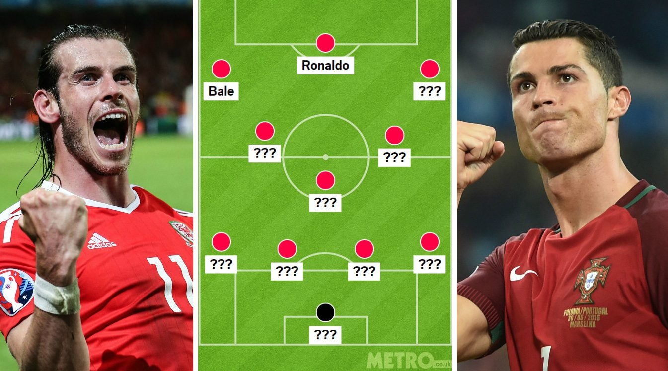 Wales and Portugal combined XI, with Cristiano Ronaldo and Gareth Bale the pick of Euro 2016 semi-finalists