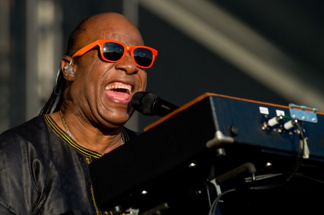 LONDON, ENGLAND - JUNE 29:  Stevie Wonder (Born Stevland Hardaway Morris) performs on Day 2 of the Calling Festival at Clapham Common on June 29, 2014 in London, England.  (Photo by Ben A. Pruchnie/Getty Images)