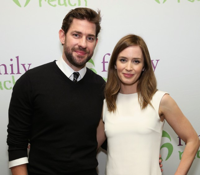 NEW YORK, NY - NOVEMBER 02: Actors John Krasinski (L) and Emily Blunt attend Family Reach's Cooking Live From New York: Emily Blunt & John Krasinski join celebrity chefs Ming Tsai and Morimoto, to help families fighting pediatric cancer at The Ritz-Carlton New York, Battery Park on November 2, 2015 in New York City. (Photo by Cindy Ord/Getty Images for Family Reach Foundation)