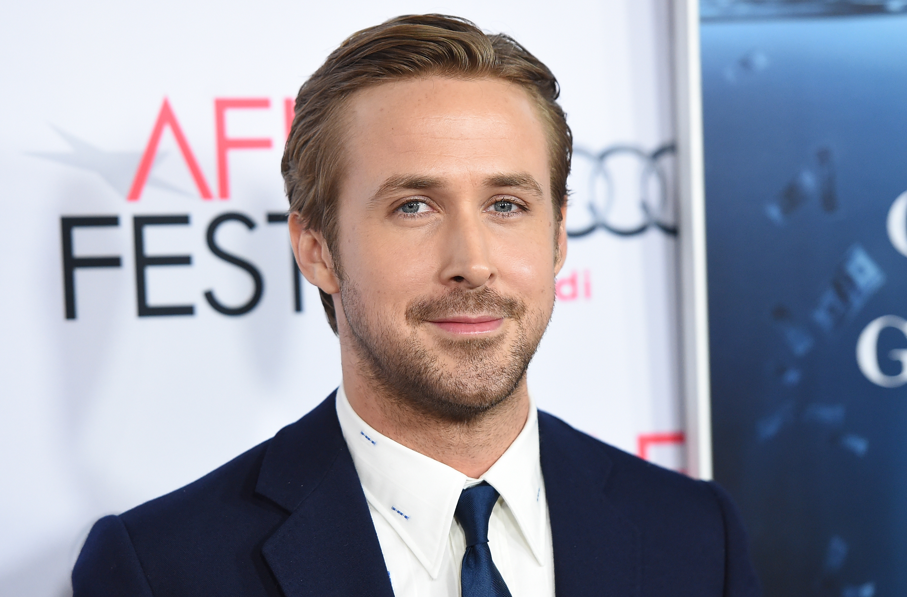 HOLLYWOOD, CA - NOVEMBER 12: Actor Ryan Gosling attends the closing night gala premiere of Paramount Pictures' 'The Big Short' during AFI FEST 2015 at TCL Chinese Theatre on November 12, 2015 in Hollywood, California. (Photo by Jason Merritt/Getty Images)
