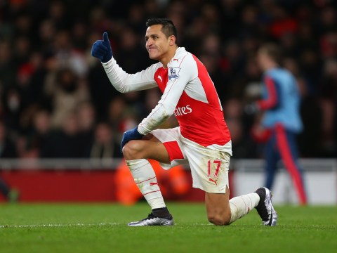 Alexis Sanchez is back on the treatment table… but his ankle is looking much better