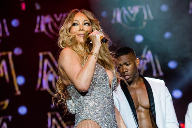 Mariah Carey knows her best angle (Picture: FilmMagic)