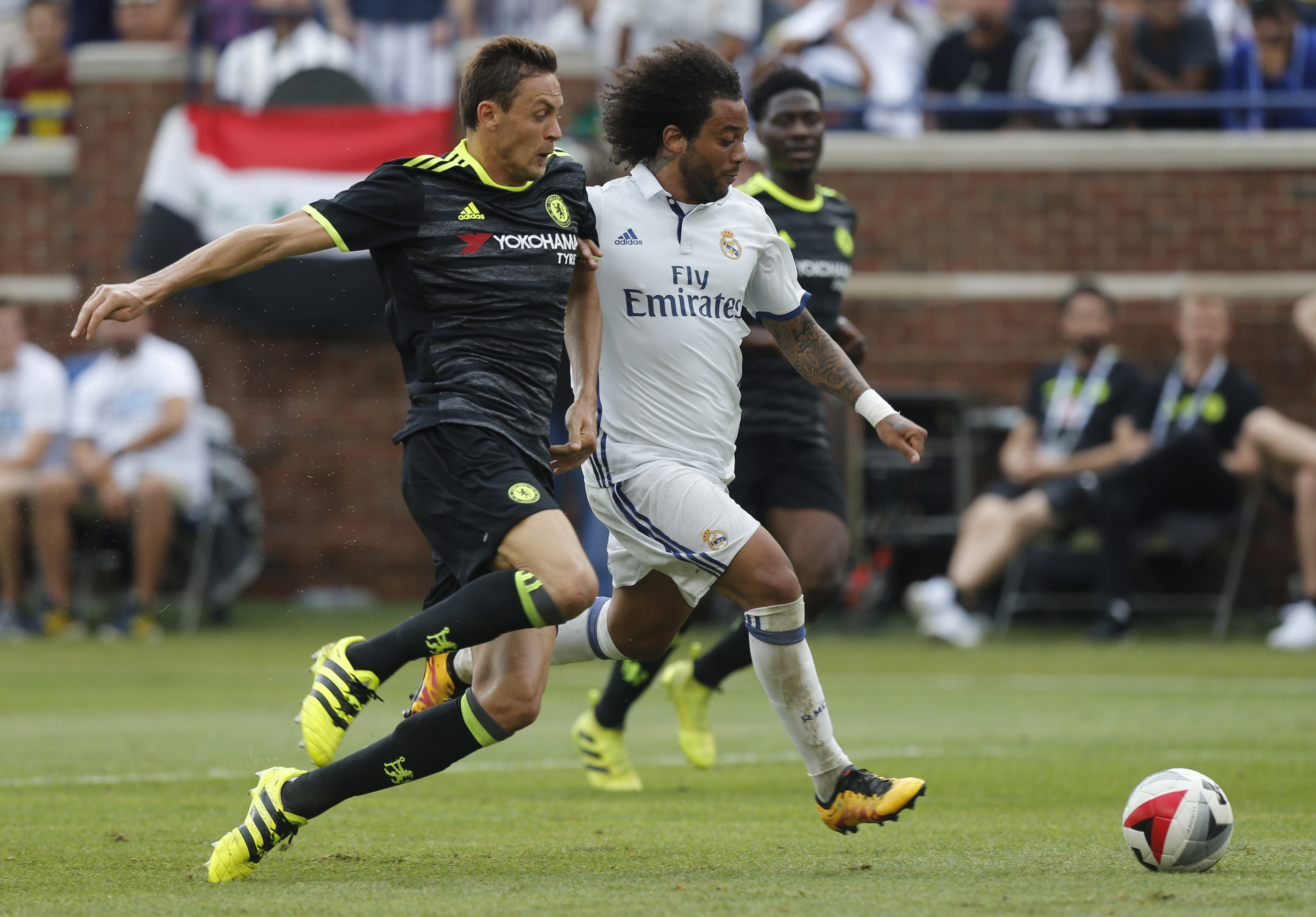 Real Madrid's Marcelo puts his side ahead with smashing effort against Chelsea