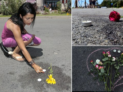 Flowers placed on bloodstained Nice promenade after lorry attack that killed 84