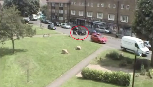 A teen was arrested following the carjacking with kids in the back seat (Picture: Met Police)