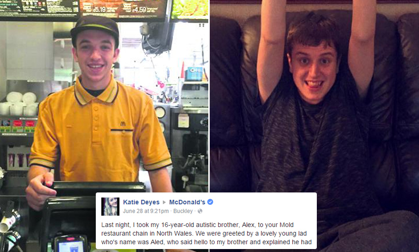McDonald's Employee Makes Autistic Boy's Day With Heartwarming Gesture