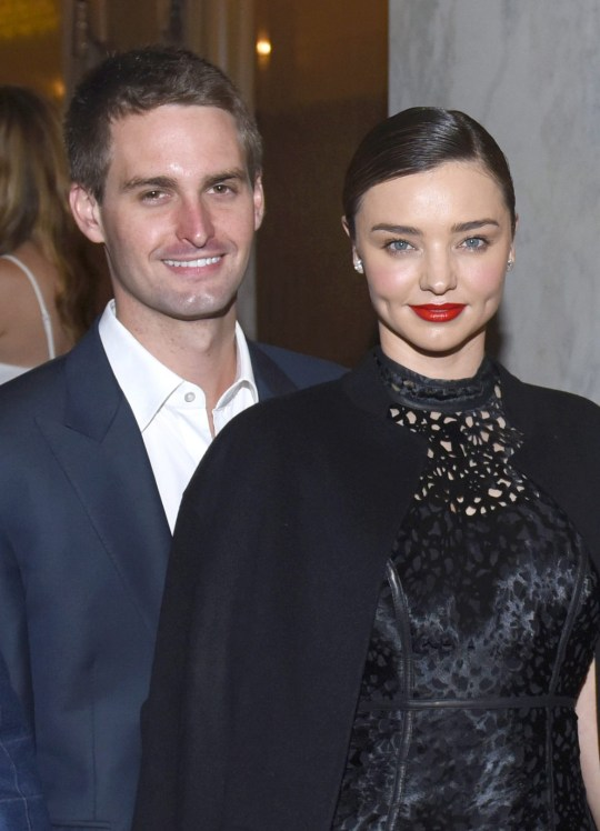 LOS ANGELES, CA - MAY 03: (EXCLUSIVE COVERAGE) Co-founder and CEO of Snapchat Evan Spiegel and model Miranda Kerr attend the Berggruen Institute: 5 Year Anniversary Celebration at The Beverly Wilshire on May 3, 2016 in Los Angeles, California. (Photo by Vivien Killilea/Getty Images for Berggruen Institute)