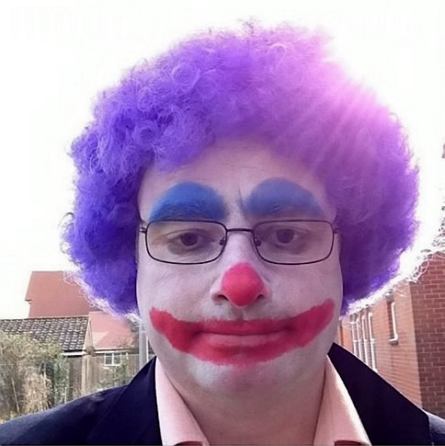 "Clown Timothy Withey.(Facebook photo that has been ID'd by the prosecutor) A part-time clown called 'Mr Whippy' has been jailed for sexually assaulting an eight-year-old boy. See story NNCLOWN. Primary school volunteer Timothy Withey, who also dresses as a clown for functions, was banged up for preying on the youngster. Sick Withey, 47, was caught by officers from Kent Police's paedophile and online investigation team when they raided his home near Maidstone, Kent, last August. The investigation prompted a young boy to come forward, who told police he had been sexually assaulted by Withey twice. The first time happened in 2008, when the little lad was just eight years old, and once again four years later. Withey volunteered in 2013 to work at Paddock Wood Primary School and Staplehurst School. He boasted on Facebook about how children nicknamed him ""Mr Whippy,"" as well as writing about how hoped to work in education."