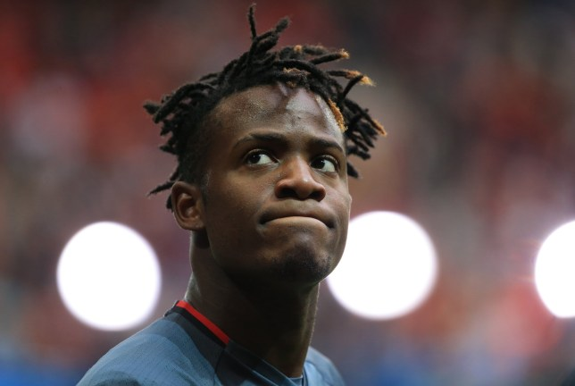 Michy Batshuayi of Belgium warms up during the UEFA European Championship 2016 match at the Stadium Pierre Mauroy, Lille. Picture date July 01, 2016 Pic David Klein/Sportimage via PA Images