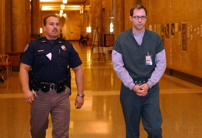 Kurt Sonnenfeld DENVER, CO - FEBRUARY 21: Cameraman Kurt Sonnenfeld appears in court for his preliminary hearing at the Denver City and County Building in courtroom 6 of the Denver District Court. Sonnenfeld, 39, is charged with first degree murder in the death of his wife Nancy Sonnenfeld. Sonnenfeld claims his wife committed suicide. Sonnenfeld photographed World Trade Center recovery efforts for the Federal Emergency Management Agency in the aftermath of Sept. 11. Sonnenfeld is pictured here on his way to the courtroom. (Photo by John Prieto/The Denver Post via Getty Images)