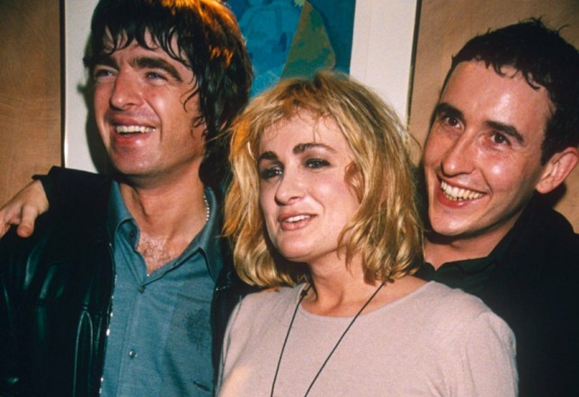 Mandatory Credit: Photo by Richard Young/REX/Shutterstock (294980p)nSTEVE COOGAN, NOEL GALLAGHER AND CAROLINE AHERNEnSTEVE COOGAN 1ST NIGHT PARTY AFTER HIS STAGE SHOW, LONDON, BRITAIN - 1998nn