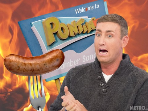 X Factor's Christopher Maloney flees sausage fire at Pontins in his pyjamas