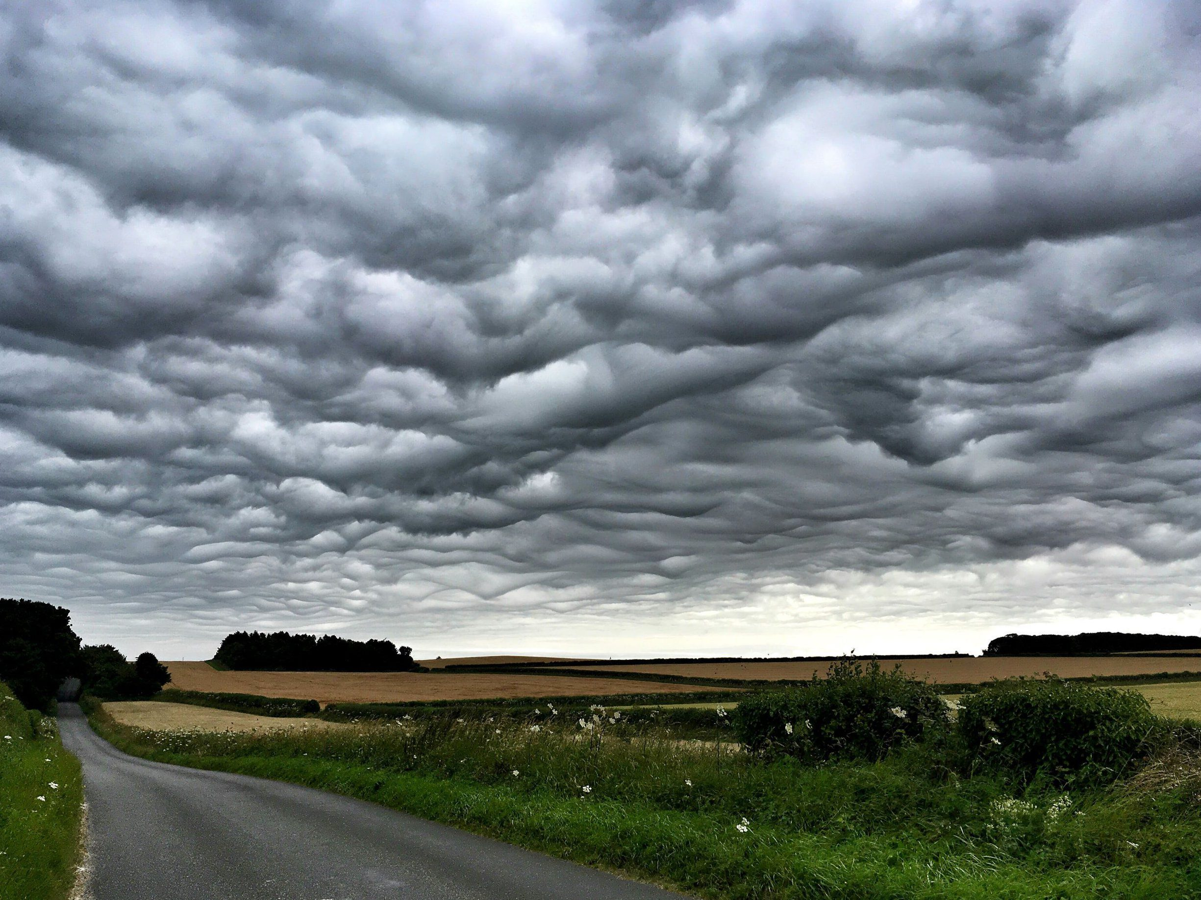 Apocalyptic wavelike clouds have appeared over Britain