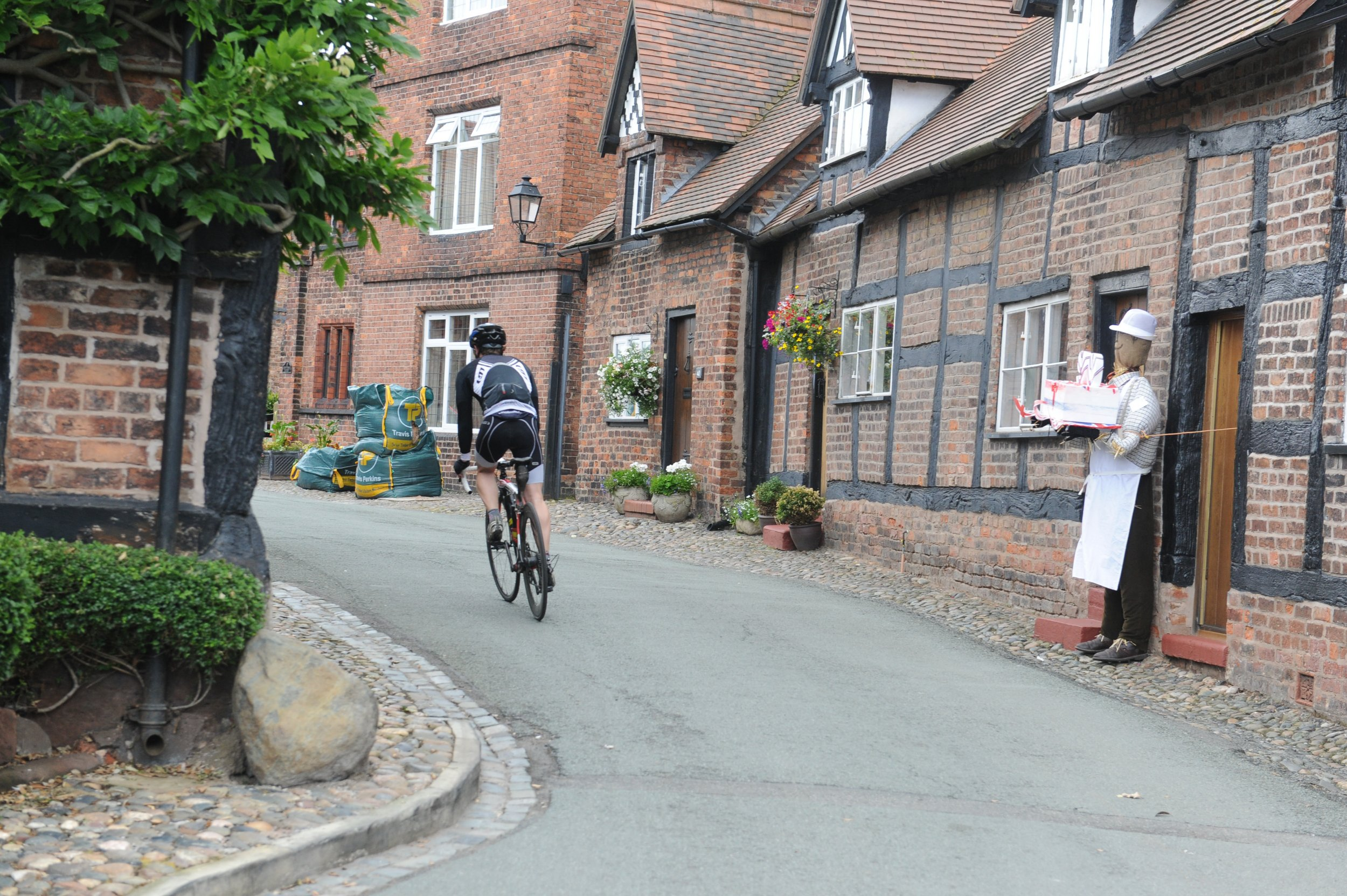 GV of Great Budworth village in Cheshire. Possibly the most beautiful village in Cheshire.