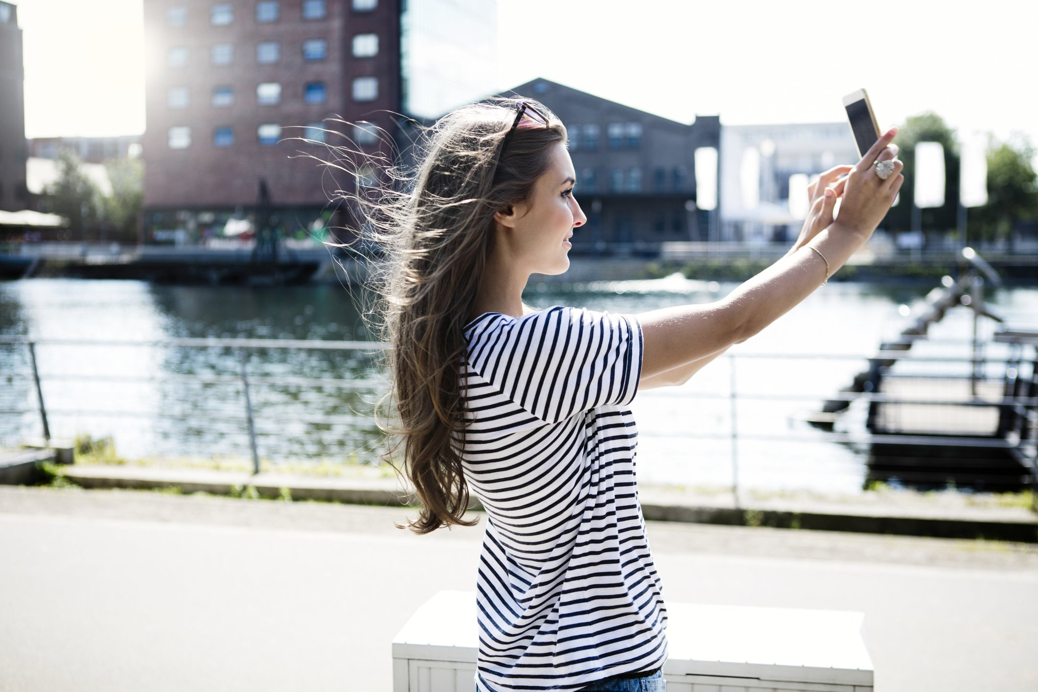 You can now take perfect windswept photos with your own iphone fan credit getty