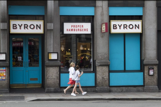 """Mandatory Credit: Photo by Amer Ghazzal/REX/Shutterstock (5801845b) A Byron restaurant chain in Fulham Broadway Byron Burger Chain Immigration Raids, London, UK - 28 Jul 2016 Nationals from Albania, Egypt, Brazil and Nepal suspected of """"not having the right to work in the UK and fraudulent documentation were arrested by Immigration officials at several Byron hamburger restaurants across London"""