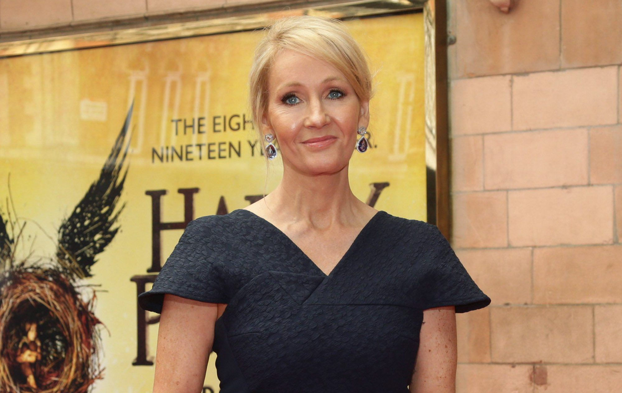JK Rowling arriving for the opening gala performance of Harry Potter and The Cursed Child, at the Palace Theatre in London. PRESS ASSOCIATION Photo. Picture date: Saturday July 30, 2016. See PA story SHOWBIZ Potter. Photo credit should read: Yui Mok/PA Wire