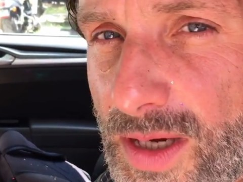 The Walking Dead's Andrew Lincoln got glitter bombed by Norman Reedus and it was just beautiful