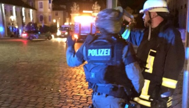 Taken Without permission Explosion kills one in Germany Credit: Twitter