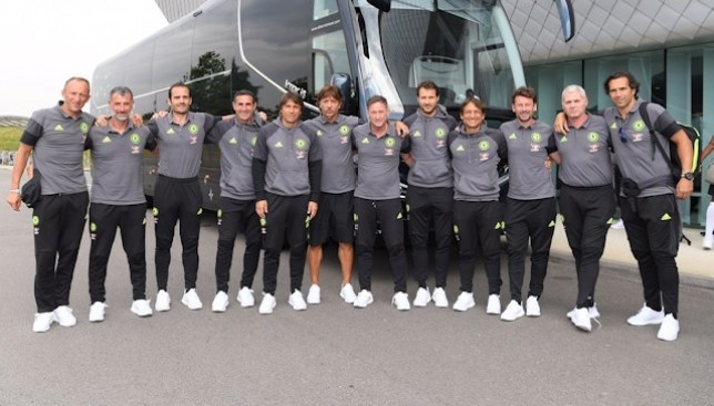 Cudicini, fifth from the right, will be part of Conte's coaching staff (Photo: @ChelseaFC)