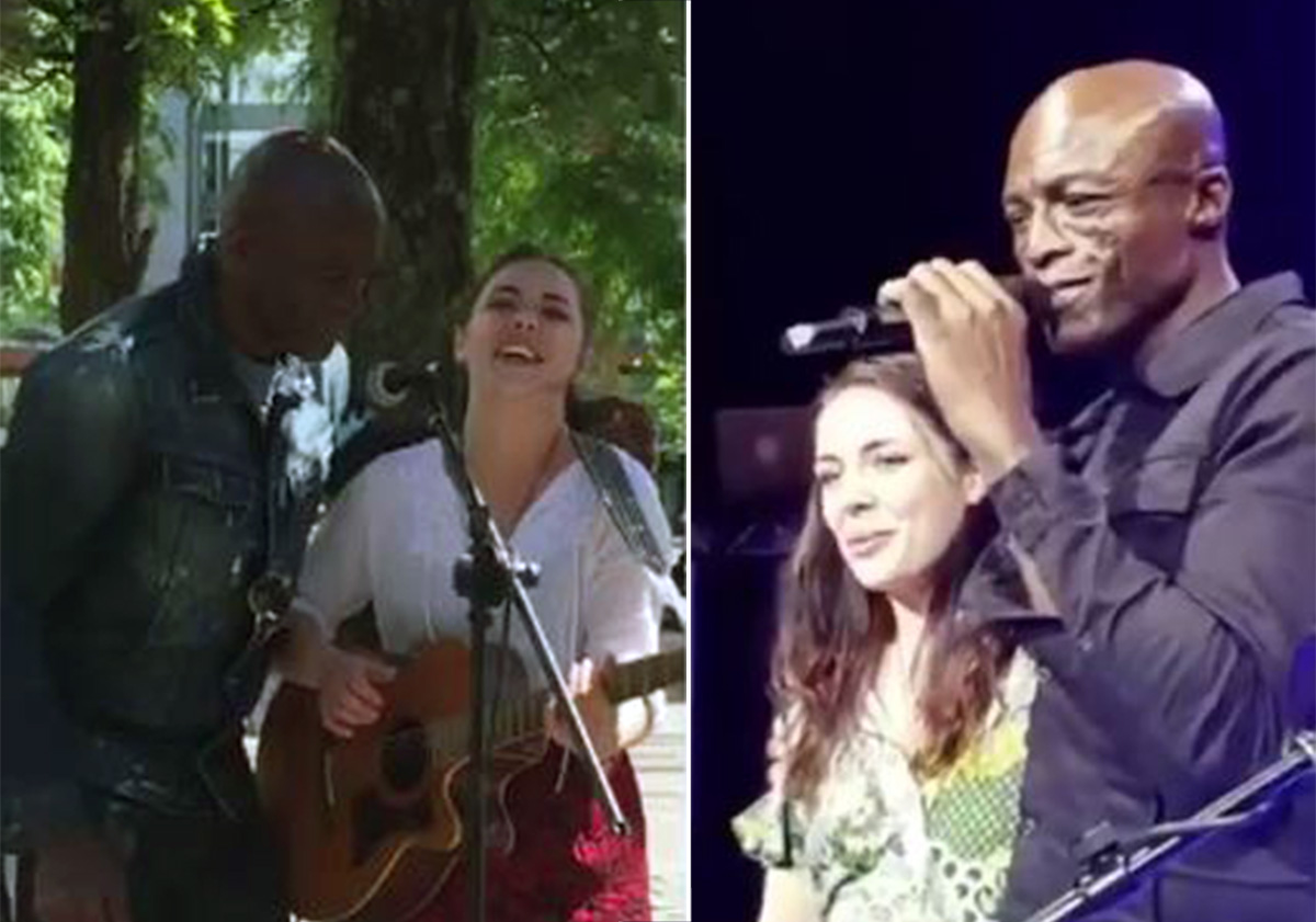 Seal got a busker to open for him at his Manchester show
