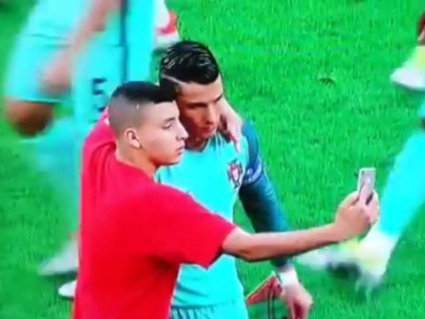 Video: Cristiano Ronaldo poses for selfie with ball boy before Euro 2016 Wales clash