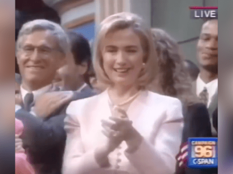 It's 20 years since the DNC danced to the Macarena and it's still cringy as hell
