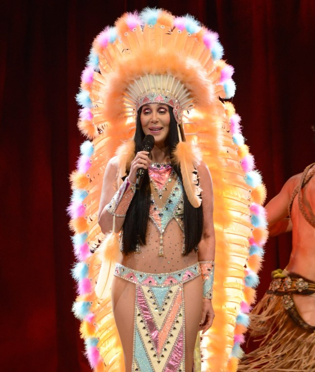 Cher performs onstage during her Dressed To Kill tour (Picture: Getty/WireImage)