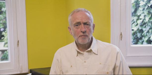 Corbyn makes his first statement since the coup (picture: Twitter)